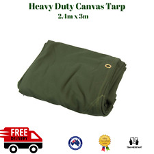 Outdoor Canvas Tarpaulin Heavy Duty Tarp Cover Ute Camping Shelter Tent Shade