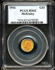 1916 G$1 McKinley Commemorative Gold Dollar MS62 PCGS 16750285