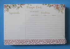 Butterflies & Flowers pack 50 RECIPE CARDS Legacy rose floral bridal shower gift