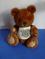 "Dakin 1981 Los Angeles Raiders Football Jointed Brown Teddy Bear Plush 11"" Tall"