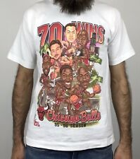 Vintage 90s Chicago Bulls T Shirt Size S Small Michael Jordan 1995 96 Rap Tee
