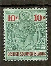 SOLOMON ISLANDS 1914-23 KGV 10/- SG37 MINT