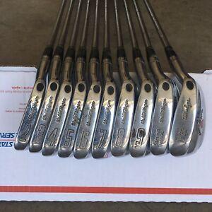 Vtg Walter Hagen HAIG-ULTRA Iron Set 2-PW & Sand Iron (10 clubs) Steel Shafts