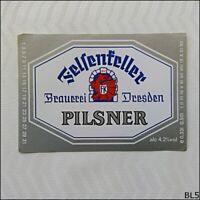 Felsenkeller Pilsner Brauerei Dresden Beer Label (BL5)