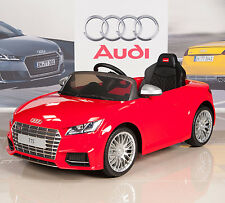Audi TT 12V Kids Ride On Battery Power Wheels Car + RC Remote - Red