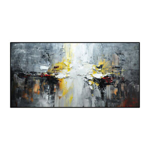 VDV061 Modern Large Hand-painted Abstract landscape oil painting on canvas 48''