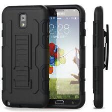 Samsung Galaxy Note 3 IR Case Cover Hybrid Armor Kickstand Belt Clip H
