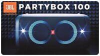 JBL Party Box 100 Portable Bluetooth Speaker - Black  *PARTYBOX100
