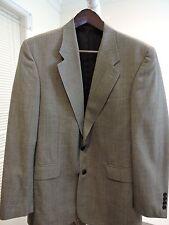 GIANFRANCO RUFFINI 100% Wool Brown Plaids & Checks 2 Button Lined Blazer - 38R
