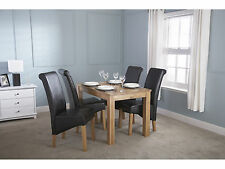 Solid Oak Dining Table 6 to 8 Seater - Butchers Block Design - 6ft Long