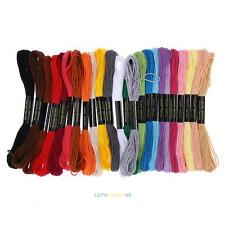 Lots 24 Cotton Cross Floss Stitch Thread Embroidery Sewing Skeins Multi Colors