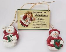 Eddie Walker Midwest of Cannon Falls 2 Snowmen & Recipe for the Holiday Season