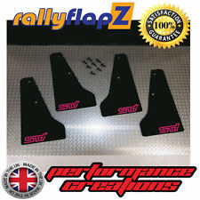 miniflapZ SUBARU IMPREZA (01-07) Splash Guards Black (Scooby Pink STi) 3mm PVC