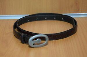 Cintura Marrone 90 Extra Lusso in Vera Pelle di Coccodrillo Vintage Originale