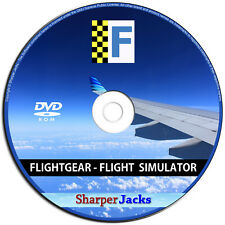 NEW & Fast Ship! Flight Simulator Jet Aircraft / Airplane / Helicopter Linux CD