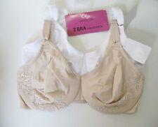 2 Olga Gentle Lift Underwire Bra Nude & White 5001T Sz 40C - NWT
