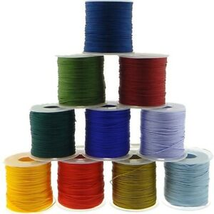 0.8mm 1mm 1.5mm 2mm Cotton Cord Nylon Thread Chinese Knot Plastic String Rope