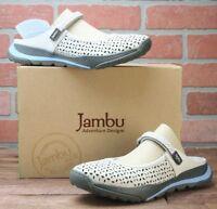 Jambu Women's Bailey Casual Flat Shoes Open Back Clay Size 8 M
