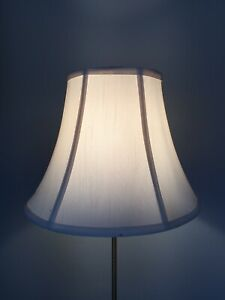 """LINED IVORY LINEN COTTON LAMPSHADE 9 3/4"""" TALL X 12 1/2"""" BOTTOM"""