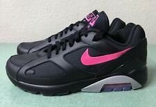 quality design 4f310 acfb1 Nike Air Max 180 PRM Premium Black Pink Grey Mens Sz 8.5 Running Shoes 1 90