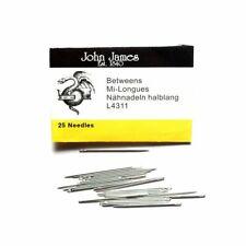 John James Sharp Quilting/Between Needles (Sizes 1 to 12) Pkt 25