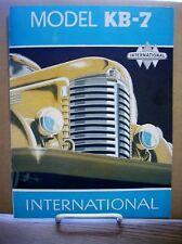 1950 ? International Truck KB-7 Sales Brochure IHC