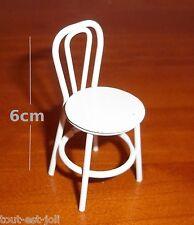 chaise de bistrot en métal blanc,miniature,maison de poupée,vitrine,cuisine *M2