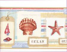 Sea SHELL MEMORIES Beachcomber Starfish Bathroom Wall paper Border