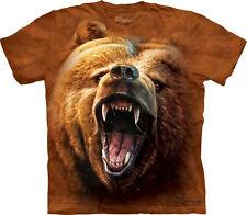 Oso grizzly Gruñido Camiseta XL XL 100% Algodón Preencogido HOMBRE UNISEX NUEVO