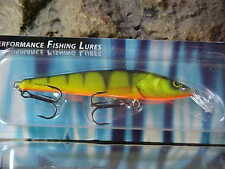 Salmo Floating Sting Minnow S12F-HP in HOT PERCH for Walleye/Salmon/Pickerel