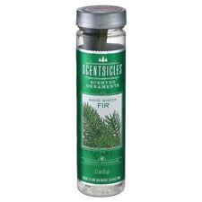 6 X SCENTSICLES Perfumado Colgante palos abeto blanco de invierno Aroma de árbol de Navidad