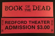 Evil Dead (Book of the Dead) Premier Unused Blood Red Movie Ticket 1981 LOA