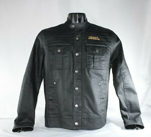 Harley-Davidson Men's Flaming Skull Patch Shirt Jacket, 97400-20VM