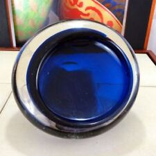 Art Glassware Blue Hand Blown Glass