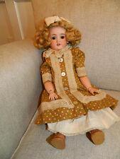 "Antique 250 KH Kley Hahn Walkure 19"" German Bisque Doll Brown Eyes Blonde Hair"