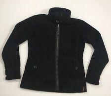 Women's KAVU Fleece Jacket Large Black, Fuzzy thumb holes