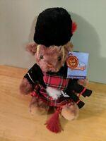 KEEL TOYS Scottish Plush Bear - Bagpipes Kilt