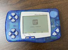 Bandai WonderSwan console Soda Skeleton Blue