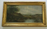 NICE GOLD CARVED ANTIQUE FRAME WITH AS IS RESTORATION PROJECT PAINTING HUDSON ?