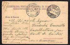 CARTOLINA Militare in franchigia 1916 da PM 11° CA a Corte de Cortesi (FILm)