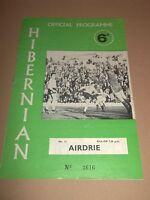 HIBERNIAN V ST JOHNSTONE SCOTTISH LEAGUE FOOTBALL PROGRAMME 1970