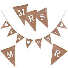 Mr & Mrs Girlande Hochzeit Banner Jute braut Feier