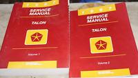 1998 EAGLE TALON Service Repair Shop Manual VOLUME 1 ONLY MOPAR DEALERSHIP BOOK
