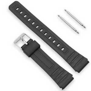 Plastic Sports Watch Band Replacement Strap Resin for Casio F-91 18mm Black