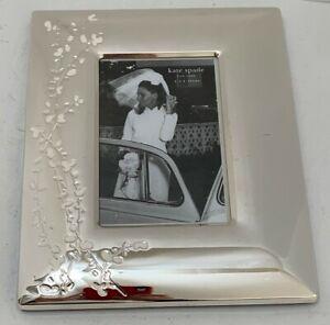 "Kate Spade NY PHOTO FRAME 4x6"" Image Gardner Street Silver Plate ©Lenox 8""x10"""