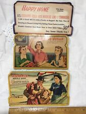 3 Vintage Needle Cards - Happy Home, Reliance & Sewing Susan. Promotionals