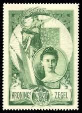Netherlands Poster Stamp - 1898 Coronation of Queen Wilhelmina - Type 1 Single