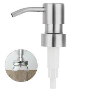 Silver Soap Dispenser Pump Replacement Nozzles Liquid Lotion Bottle Head 28mm