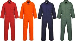 Portwest C802 Standard Men Coverall Poly Cotton Work Overall Workwear Boilersuit