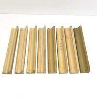 Scrabble Tile Racks Letter Holders Lot 8 Vintage Wood Wooden Arts Crafts